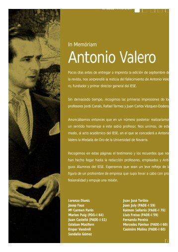 Antonio Va l e ro - revista iese.