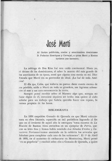 """José Martí. Prólogo de la obra """"Flor y Lava"""" - BAGN"""