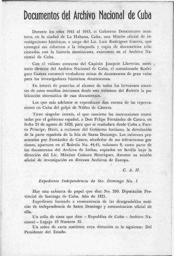 Documentos del Archivo Nacional de Cuba - BAGN