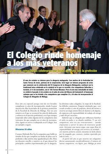 El Colegio rinde homenaje a los más veteranos - Colegio de ...