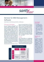 Services für IBM-Management-Software (pdf) - Santix AG
