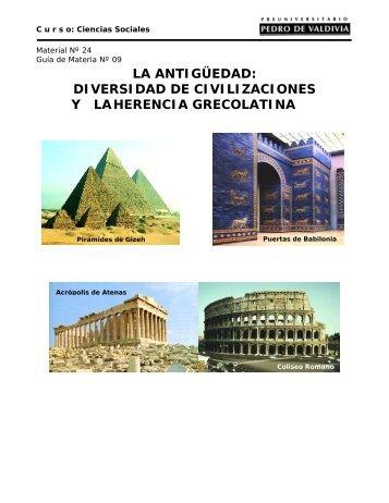 DIVERSIDAD DE CIVILIZACIONES Y - Sala de Historia