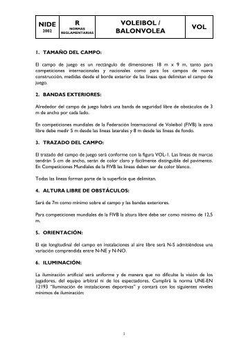 VOL Voleibol - Consejo Superior de Deportes