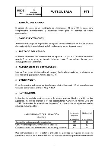FTS Fútbol Sala (documento pdf)