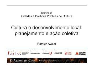Cultura e Desenvolvimento Local - Cidades e Políticas Públicas de ...