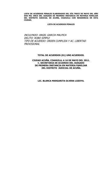 16 - Poder Judicial del Estado de Coahuila