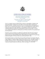 UNITED STATES CONSULATE GENERAL Paseo de Las Culturas ...