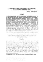 CULTURAS INTERCALARES DE SOJA EM REFLORESTAMENTOS ...