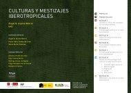 culturas y mestizajes iberotropicales - Universidad Autónoma del ...
