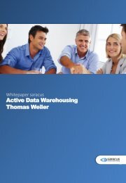 Active Data Warehousing Thomas Weiler - Saracus Consulting GmbH