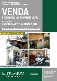 Catálogo California_Restaurantes Negociação ... - L.C.Premium