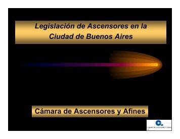 Cámara de Ascensores y Afines Legislación de Ascensores ... - facara