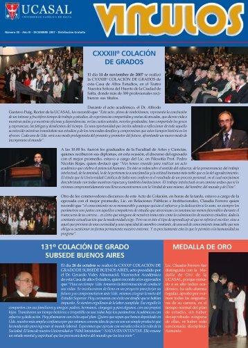 CXXXIIIº COLACIÓN DE GRADOS MEDALLA DE ORO 131º ...