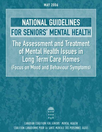 National Guidelines for Seniors' Mental Health - Alzheimer ...