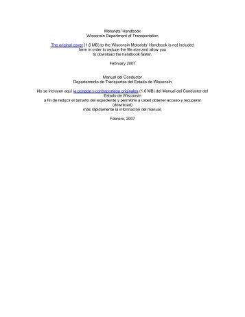 Manual Del Conductor Comercial Del Estado De Wisconsin