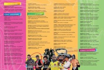 grande la programación - Festival del Retorno Acacias