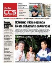 Gobierno inicia segunda Fiesta del Asfalto en Caracas - Ciudad CCS