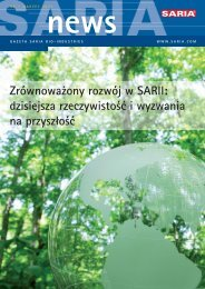 Nr.1 Marzec 2010 - Saria Bio-Industries AG & Co. KG