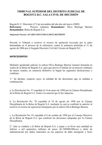 BOGOTÁ D.C. SALA CIVIL DE DECISIÓN - AMV