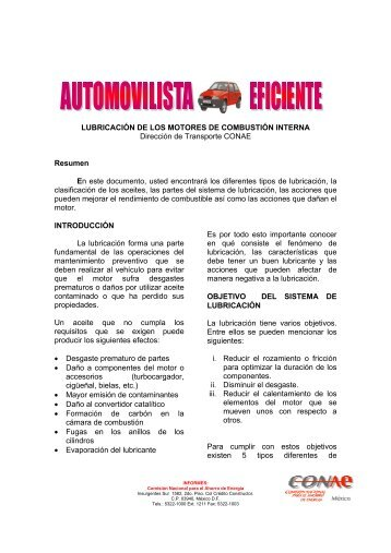 LUBRICACIÓN DE LOS MOTORES DE COMBUSTIÓN INTERNA ...