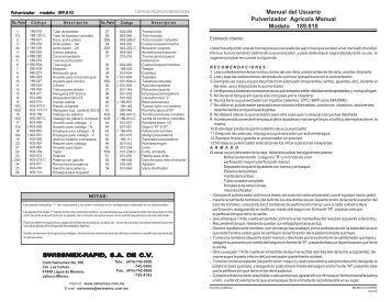 ASPERSORA MOCHILA FRIULANA.pdf - Plantas eléctricas LUMA ...
