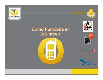 Descarga el tutorial 072 móvil - Secretaria de Obras y Servicios