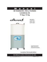 de Instalación, Uso y Cuidado Lavadoras de 11 kg y 13 kg - Maytag