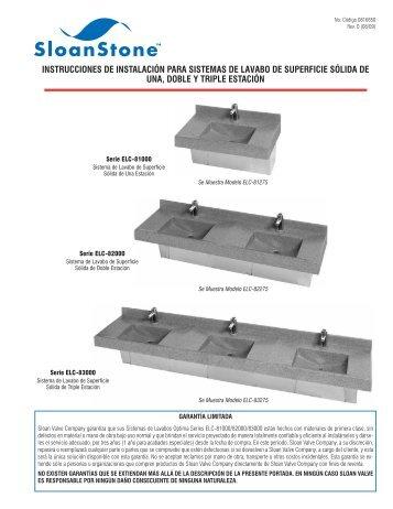 Instrucciones de Istalacin: ELC-81000/82000/83000 - Sloan Valve ...