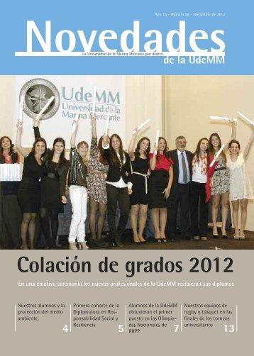 Colación de grados 2012 - Universidad de la Marina Mercante