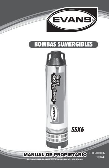 SSX6 BOMBAS SUMERGIBLES S - Evans