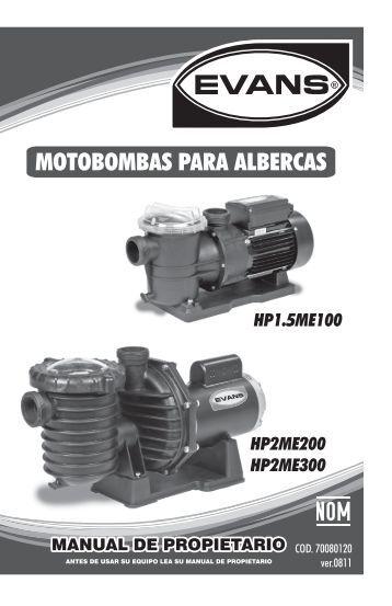 MOTOBOMBAS PARA ALBERCAS - Evans