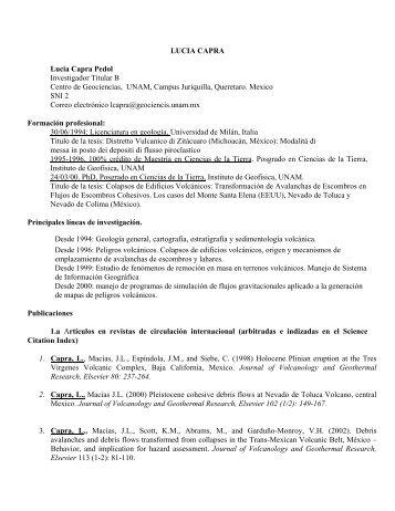 CV PDF (español) - Centro de Geociencias ::.. UNAM