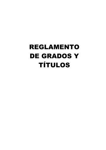 reglamento de grados y títulos - Universidad César Vallejo