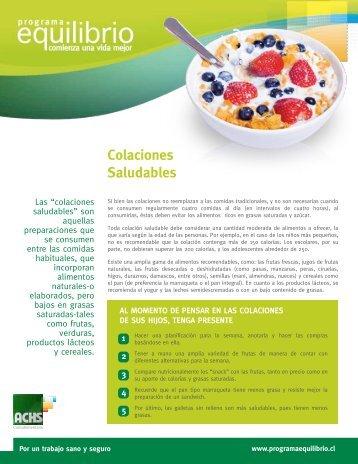 Colaciones Saludables - ACHS