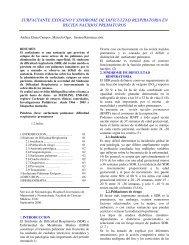surfactante exógeno y sindrome de dificultad respiratoria en recien ...