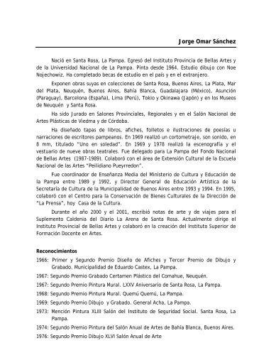 Jorge Omar Sánchez - Ministerio de Cultura y Educación | La Pampa
