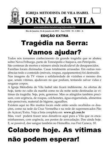 Tragédia na Serra: Vamos ajudar? Colabore hoje. As vítimas não ...