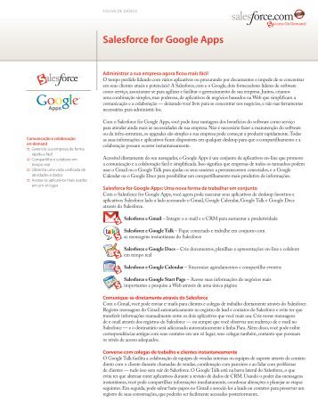 Salesforce for Google Apps - Salesforce.com
