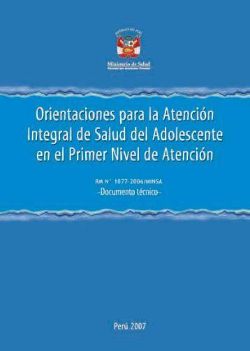Orientaciones para la atención integral de salud del adolescente en ...