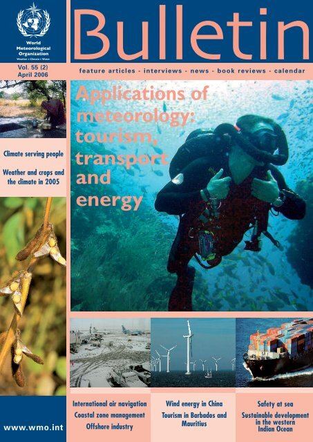 Applications of tourism, transport meteorology ... - E-Library - WMO