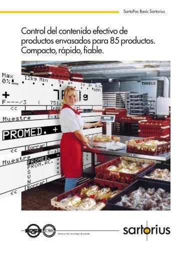 Control del contenido efectivo de productos envasados ... - Sartorius