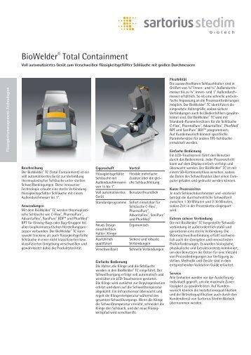 BioWelder® Total Containment