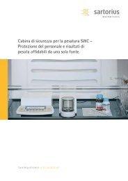 Cabina di sicurezza per la pesatura SWC – Protezione ... - Sartorius
