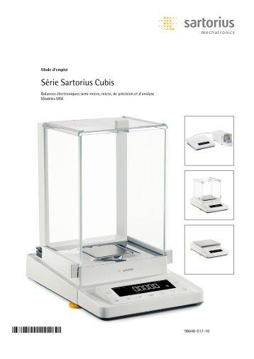 Série Sartorius Cubis - Sartorius AG