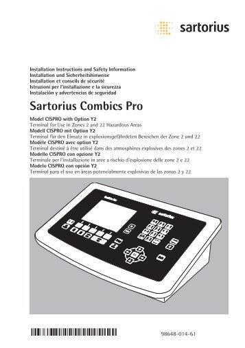 Sartorius Combics Pro - Sartorius AG