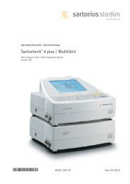 Manual Sartocheck4plus SPI6046-a - Sartorius AG