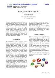 Estudi de xarxes WPAN 802.15.4 - Universitat Oberta de Catalunya