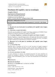 Enseñanza del español y nuevas tecnologías - Grupo de Fonética ...