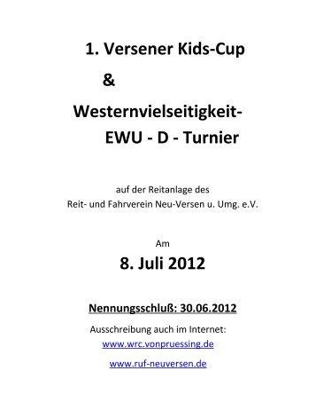 1. Versener Kids-Cup & Westernvielseitigkeit ... - RuF Neu-Versen