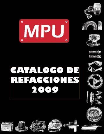 CATALOGO DE REFACCIONES 2009 - Motopartes Universales